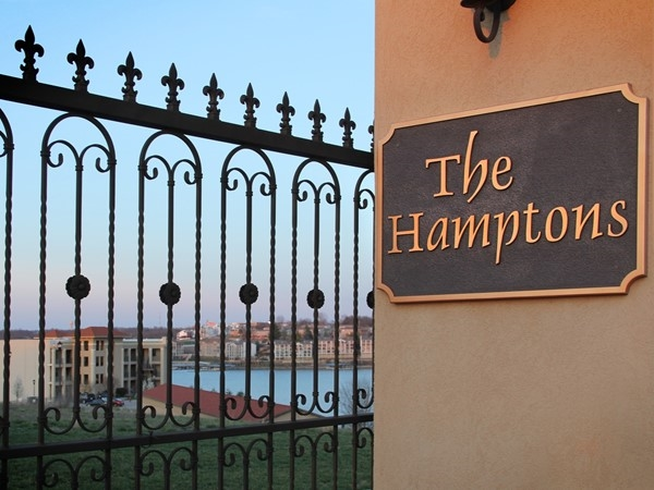 Gated entry at the Hamptons creating the privacy we all want and need