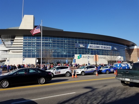 Intrust Bank Arena in downtown Wichita hosts many of the city's sporting events