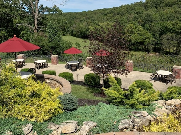 Grab a glass of wine and relax at Seven Springs Winery in Linn Creek