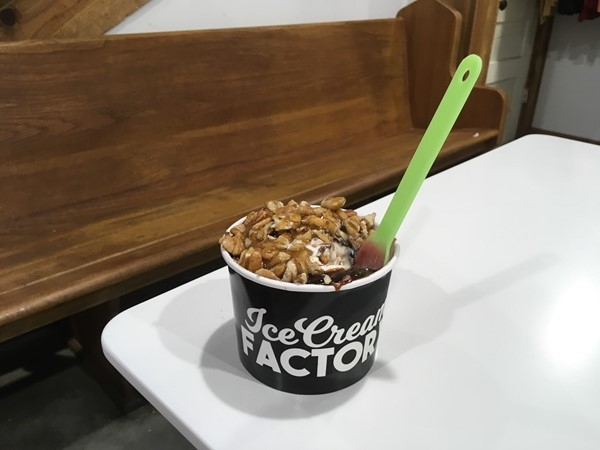Super Turtle Sundae - You have to try it.  Ice Cream Factory in Eldon