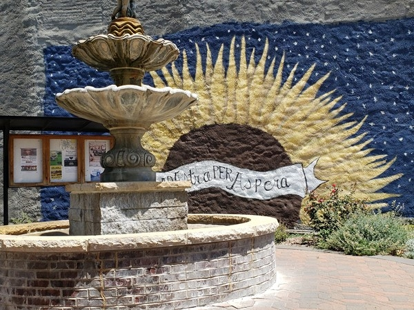 Fountain in Downtown Garnett