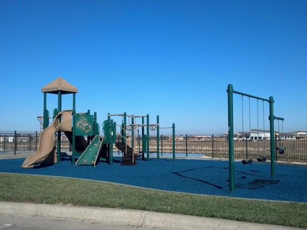 Hampton Lakes also features a great playground that overlooks the lake AND it's right by the pool!