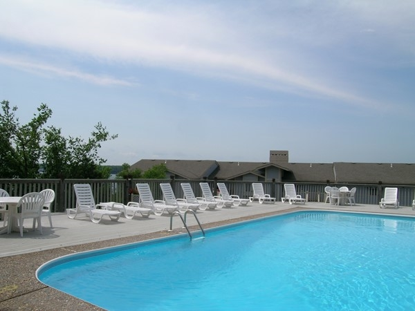 Catch some rays by the pool at Spinnaker Point Condominiums