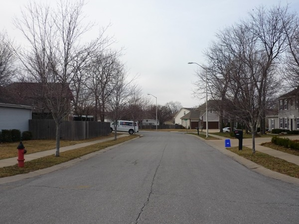 East 78th Street from Highridge Court in the Summit Wood subdivision