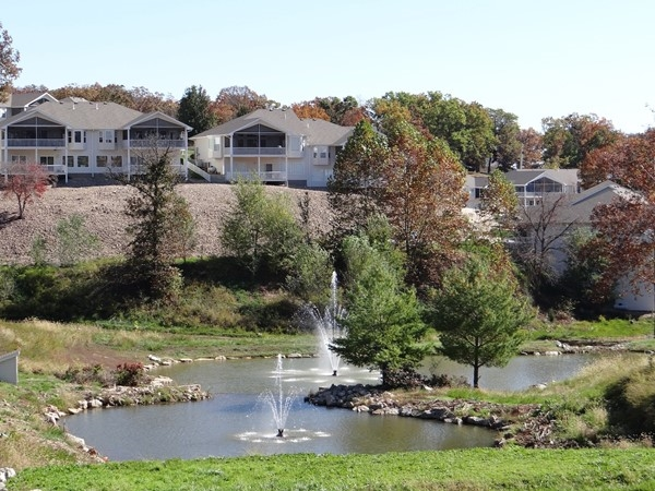 Easy, beautiful living at the Villas at Grand Glaize! I mean... look at that landscaping