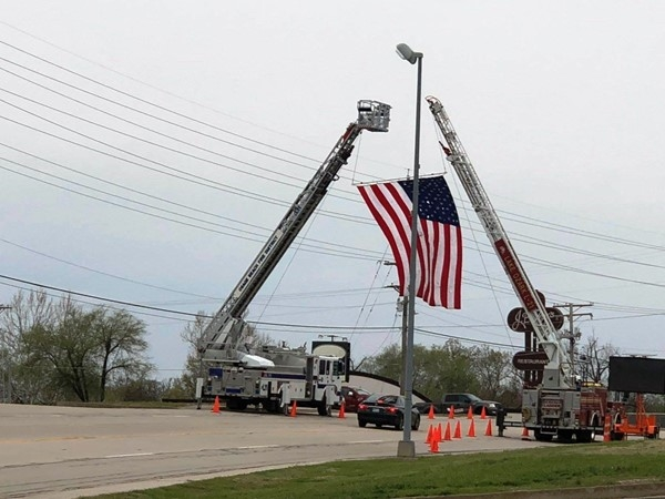 Osage Beach supporting our fallen local hero