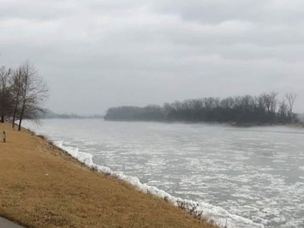 Winter time down by the river in Atchison