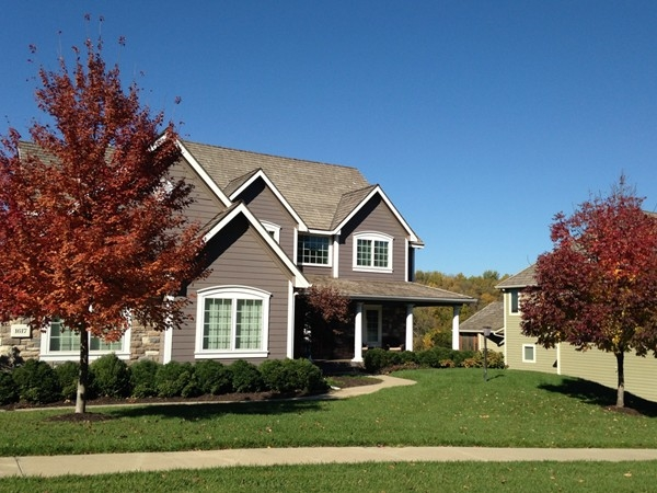 Auburn and red leaves add color to Foxfire neighborhood