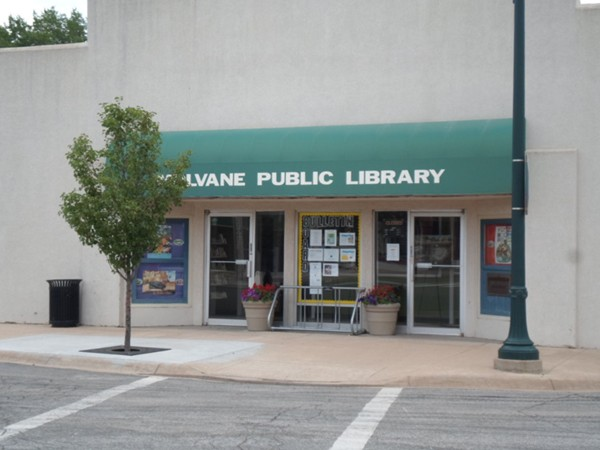Centrally located Mulvane Library