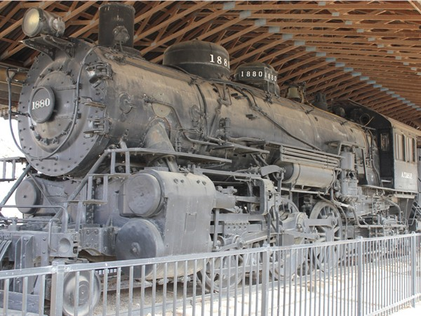 Santa Fe steam locomotive from 1880