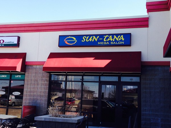 Sun-Tana--Great clean tanning salon. Across the street from Lake Shawne
