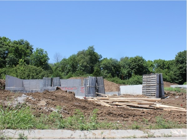 Five new custom starter homes have poured foundations
