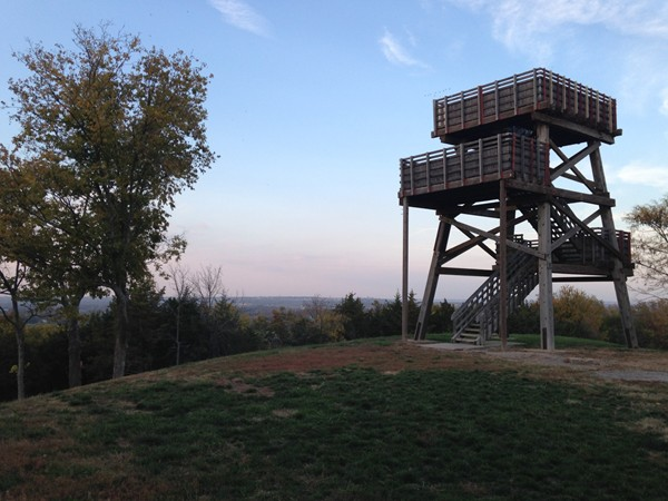 The tower at Wells Overlook Park, just south of Lawrence