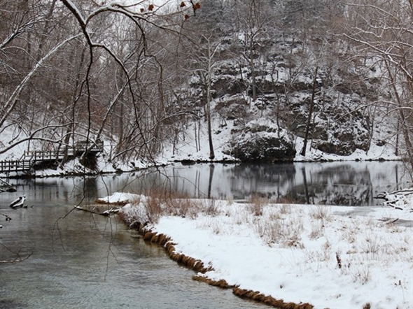 Private pre lake of the ozarks trout stream at ha ha for Private trout fishing in missouri