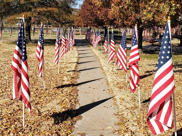 City Park, honoring our Veteran's