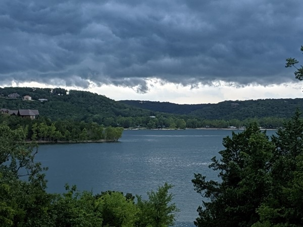 Storm clouds over Table Rock Lake