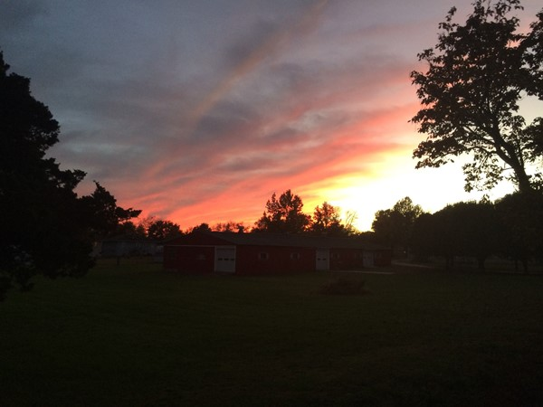 A beautiful Halloween sunset in Clinton