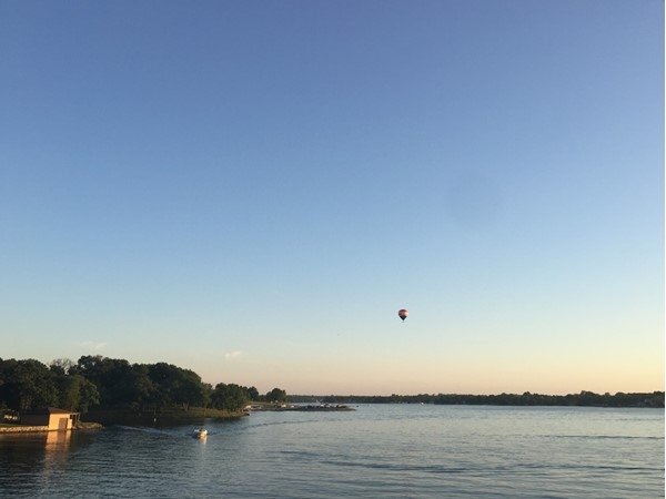 Flying high over Lake Viking on a beautiful June evening