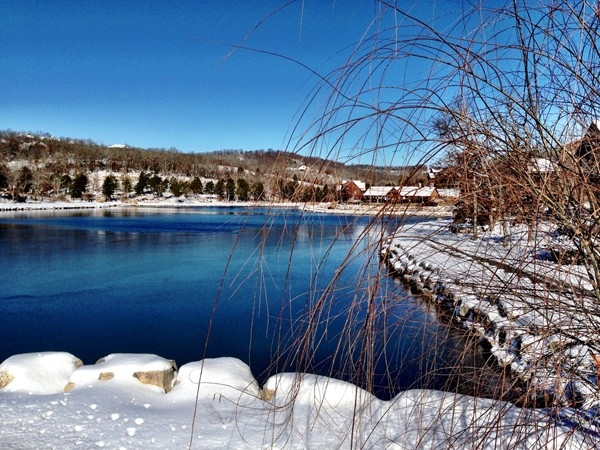 Fox Hollow Lake at StoneBridge Village is beautiful in winter too!