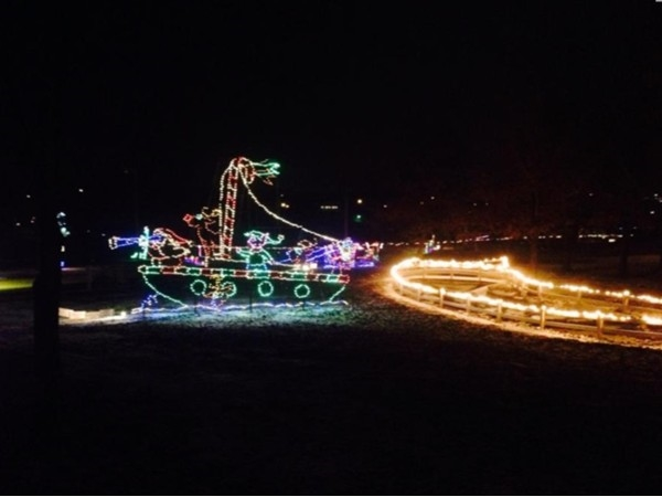 "Beautiful looking at ""The Enchanted Village"" lights from the warmth and comfort of the car"
