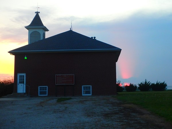 Rapp Schoolhouse at Sunset
