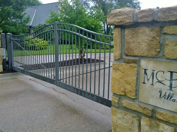 Entry gates to the Villas of McFarland Farm