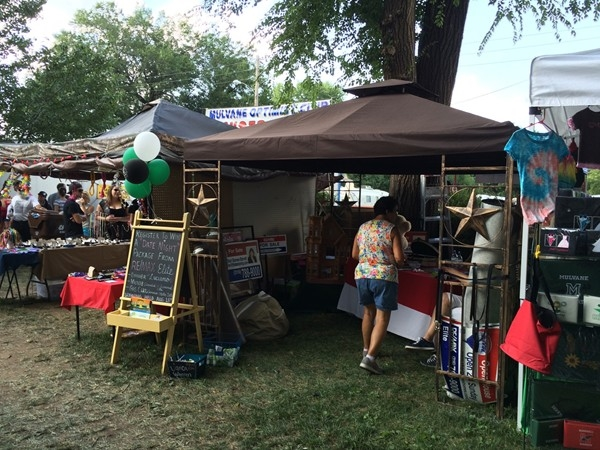 Lots of vendors set up for Mulvane's Old Settlers Days