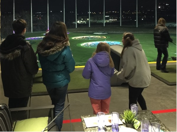 10 degrees and snowing! Top Golf.....fun for the whole family any time of the year