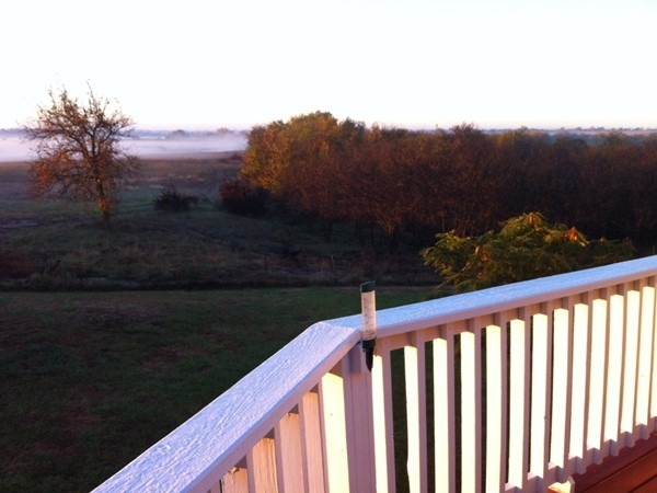 Fall morning fog in Harvey County