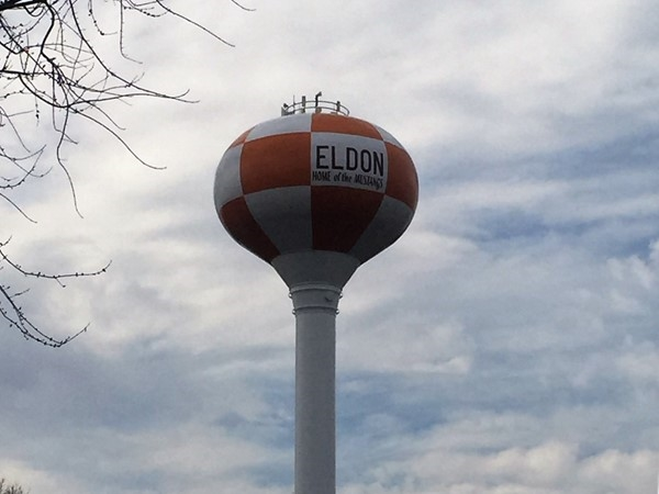 Eldon's checkered landmark water tower