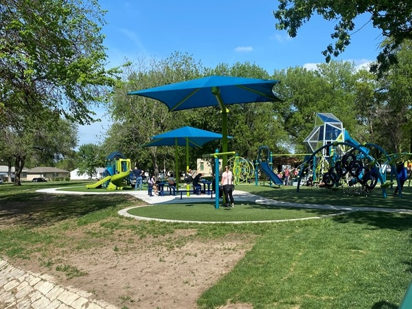 A sunny day means lots of fun at Playground Park