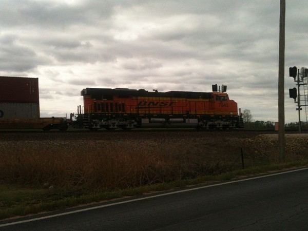 High speed train scoots through North Belle Plaine