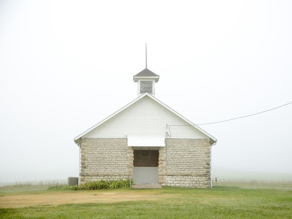 Historic Pillsbury Crossing school house near Manhattan
